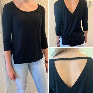 SO Black 3/4 sleeve shirt💕